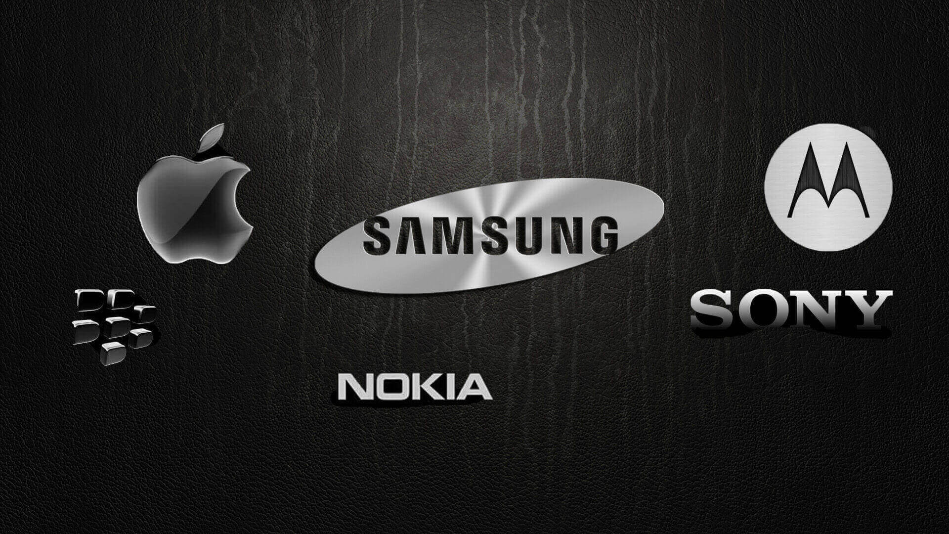 Blackberry apple samsung nokia sony motorola phone repair on black background
